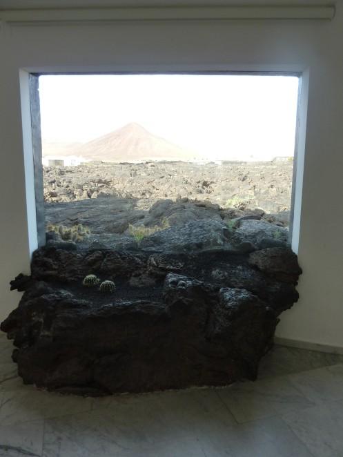View through lava window