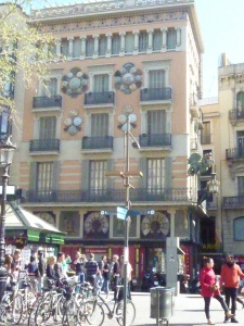 Oriental building on the Ramblas