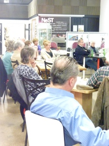 The audience gathers for the Teesdale Poetry event