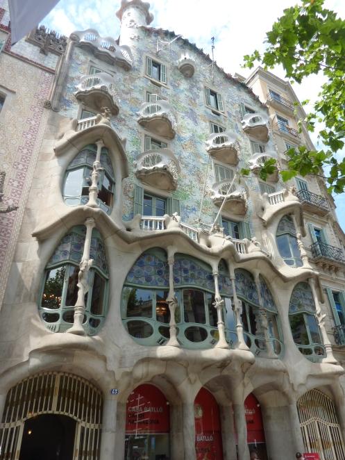 Facade of Casa Batlo, Barcelona