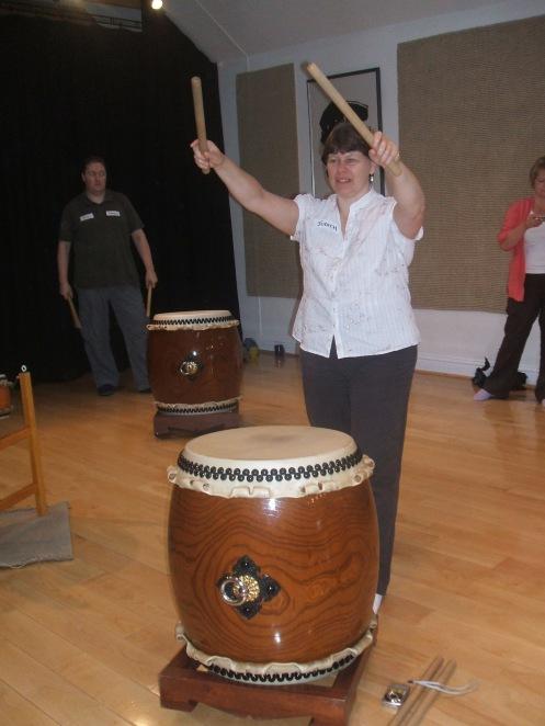 Taiko drumming at Mugenkyo Taiko' dojo near Glasgow